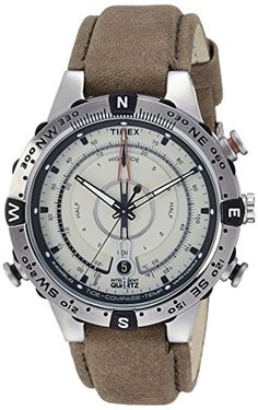 Timex Mens Intelligent Quartz Compass Chronograph Off Dial Watch ** You can get additional details at the image link.