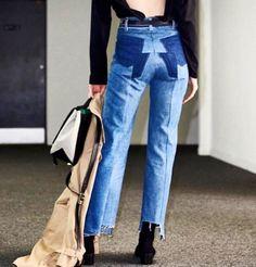 871d2ad431bd29 VETEMENTS 2016-17AW Street Style Plain Cotton Medium Elegant Style Jeans