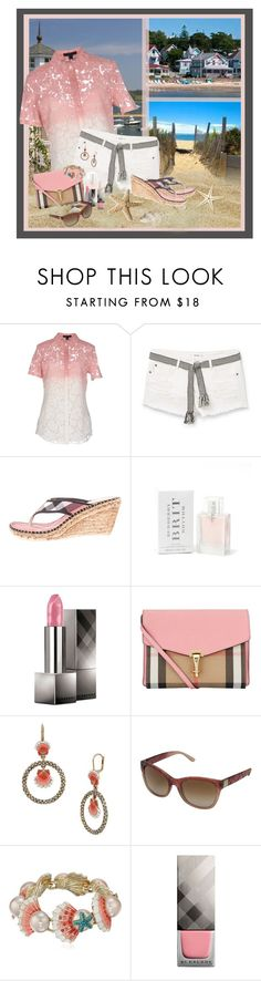 """""""Cape Cod"""" by dkelley-0711 ❤ liked on Polyvore featuring Burberry, MANGO, Betsey Johnson, mango and BetseyJohnson"""