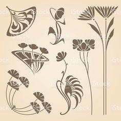 Vektor Jugendstil-Elemente. Lizenzfreies vektor illustration