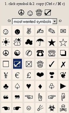 symbols to copy and paste | symbol from this map where you ... Symbols Copy And Paste App