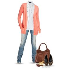 Cute casual outfits. Apricot for the upcoming spring