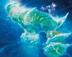 Card Name: Water Elemental Artist: John Avon