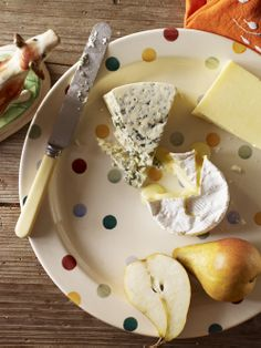 We've made this plate deliberately large, perfect for serving up your finest baking endeavours, or if you prefer, a really good selection of cheese. http://www.emmabridgewater.co.uk/icat/allpolka #EmmaBridgewater #Pottery