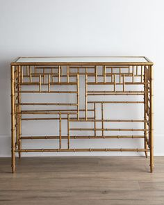 Glamorous and timeless under $700! Brass Bamboo Console at #Horchow.