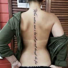 What matters most is how well you walk through the fire tattoo quote