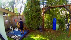 Bilderesultat for backyard gym and bar