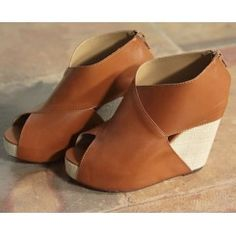 Europe big edition personality cross face after zipper sandals XSY-C0295 brown