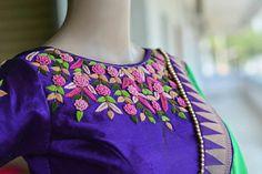Latest designs of ladies kurtis - ArtsyCraftsyDad Hand Embroidery Dress, Kurti Embroidery Design, Embroidery Neck Designs, Embroidery Fashion, Embroidered Blouse, Etsy Embroidery, Embroidery Works, Embroidery Stitches, Dress Neck Designs