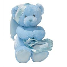Gund Baby Nighty Night Musical Toy, Blue by Gund Baby. $16.09. From the Manufacturer                Nighty Nights Key Wind Musical Blue Bear wearing a blue sleepy time hat and holding a blue blanket with a satin trim. Feature: plays brahms lullaby while head moves.                                    Product Description                This lovable, huggable plush line is for children of all ages, and perfect for every occasion. Combining the richness of traditi...