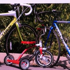 """We are adding a new bike to our collection. """"We're expecting"""" announcement photo"""