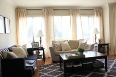 curtains for three windows in a row - Google Search