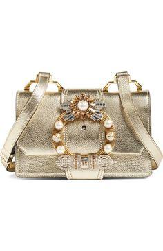 embellished metallic shoulder bag Miu Miu 3SlNwU36nH