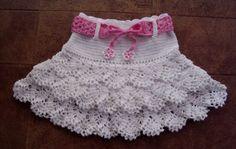 ruffle skirt pattern girls | International Crochet Patterns, crocheted girl's skirt with ruffles