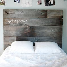 recycled plank bedhead
