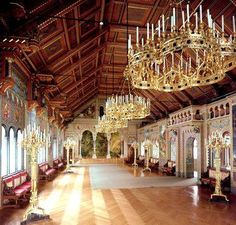 Neuschwanstein Castle ball room