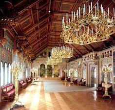 Neuschwanstein Castle ball room
