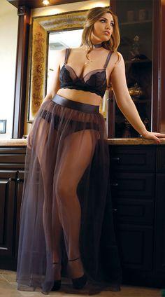 Plus Size Sabrina Tulle Maxi Skirt, plus size tulle skirt, plus size sexy tulle skirt, plus size lingerie skirt, plus size sexy lingerie skirt