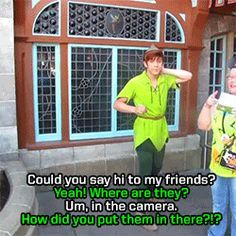 They stay in character in really cute ways. | 14 Reasons The Peter Pans At Disneyland Are The Most Adorable ThingEver