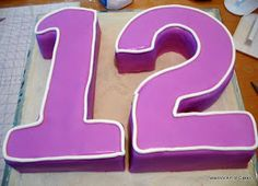 Veena's Art of Cakes: Number Cakes - One, Two or Twelve or Buy Cake, Number 12, Number Cakes, Cake Decorating Tutorials, Fondant Cakes, Cake Art, Cookie Cutters, Cake Recipes, Food Porn