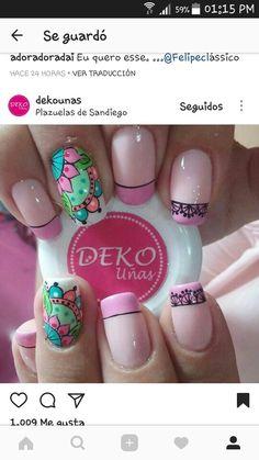 French Tip Nails, Love Nails, Manicure And Pedicure, Nail Art Designs, Nail Polish, Makeup, Beauty, Ideas, Work Nails