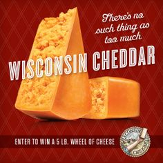 Head over to the Grilled Cheese Academy Facebook page for a chance to WIN 5 LBS of Wisconsin cheddar cheese! YUM! https://www.facebook.com/GrilledCheeseAcademy