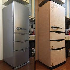 男性で、Otherのセリア/男前/100均/ハンドメイド/DIY/冷蔵庫…などについてのインテリア実例を紹介。「殺風景な冷蔵庫をリメイク! 現場で余ったダイノックシートを冷蔵庫に施工。 取っ手類はスプレーとダイノックシートで3D施工。 冷蔵庫表面に貼ったシールはセリアで購入したシールを貼り付けました。 嫁さんもとても喜んで満足してくれました。」(この写真は 2016-06-11 23:38:58 に共有されました)