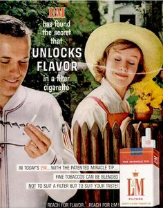 oh how times have changed. Cigarette ad in Time Magazine