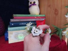 Hedwig ring Harry Potter withe owl HP adjustable jewelry