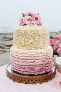 Ombre Wedding Cake | #Cake | Photography: C. Baron Photography by Tracie, Cake by  www.sugarmusebakery.com