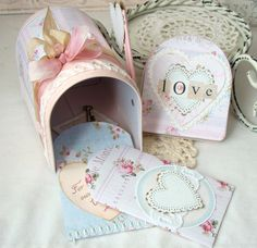 Love shabby Chic Tin Mailbox by iralamijashop on Etsy