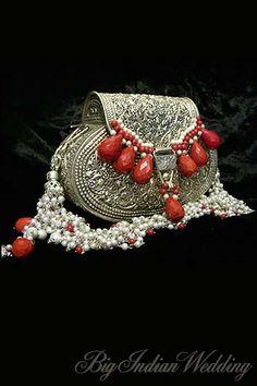 Sangita Chudiwala Collection, Designs, Fashion Shows, Shoes & Bags, Pictures and Photos on Bigindianwedding Wedding Clutch, Bridal Clutch, Bridal Accessories, Women Accessories, Fashion Accessories, Silver Clutch, Silver Purses, Metallic Bag, Beaded Purses