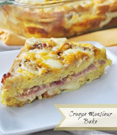 Croque Monsieur Bake. Delicious and Simple Make Ahead #Breakfast or #Brunch {The Mommy Games}