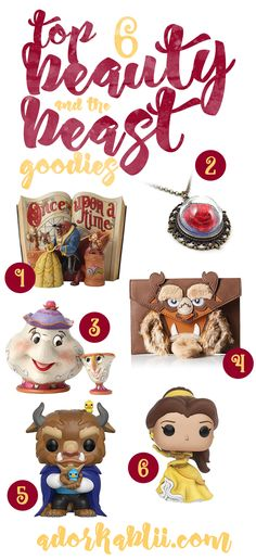 The live action film Beauty and the Beast is less then a month away & I had to share with you all my Top 6 Beauty and the Beast Goodies. #BeautyandtheBeast
