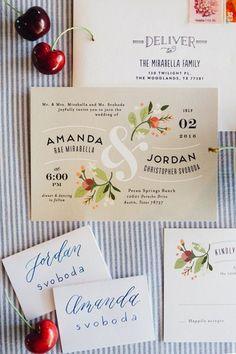convite floral moderno