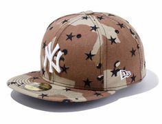 51abbc9bbe3 Camo Star New York Yankees 59Fifty Fitted Cap by NEW ERA x MLB. Team Sports  Planet