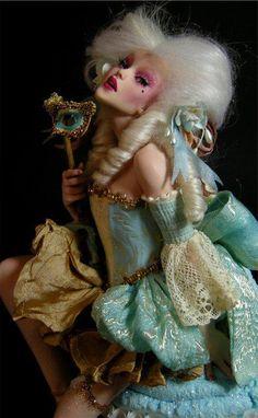Forgotten Doll Marie Antoinette - A Cupcake Pin Up Forgotten Doll - The Escape . Marie Antoinette, Ooak Dolls, Art Dolls, Le Burlesque, Art Magique, Steampunk, West Art, Polymer Clay Dolls, Foto Art