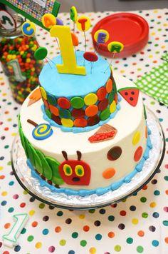 Very Hungry Caterpillar 1st Birthday Cake!