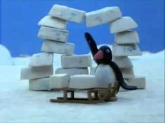 Pingu maakt een iglo, video Winter Fun, Winter Theme, Pingu Memes, Polo Norte, Stop Motion, Arctic, Preschool, Winter, Preschools