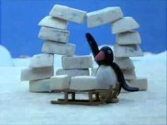 Pingu maakt een iglo, video