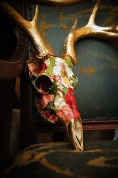 Floral skulls can still be creepy!