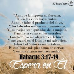YO SOY EL BUEN PASTOR: Habacuc 3:17-19