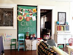 i love the eclectic coloful decorating in meg's house!