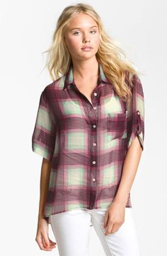 Band of Gypsies Plaid Shirt (Juniors) available at #Nordstrom
