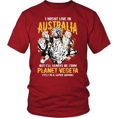 Super Saiyan - I May Live In Australia - Men Short Sleeve T Shirt - TL00108SS