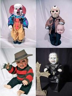 Horror babies - even MORE creepy! Arte Horror, Horror Art, Horror Room, Horror Crafts, Horror Movie Characters, Horror Movies, Slasher Movies, Horror Icons, Horror House