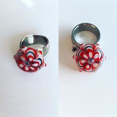 #rood #ring #glass #beads
