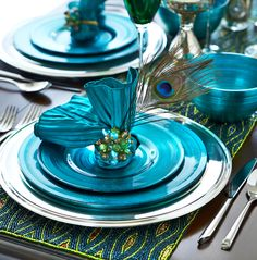 Feather your holiday nest with Peacock accents from Pier 1