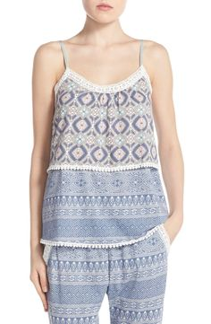 PJ Salvage Tiered Lace Camisole available at #Nordstrom