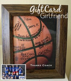 Fun way to deliver a basketball gift card to thank coach. #FreePrintable #FreeShipping code.